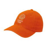 Orange Flexfit Mid Profile Hat-Seal with College Name