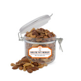 Deluxe Nut Medley Small Round Canister-Seal with College Name
