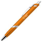 Milo Orange Pen w/Blue Ink-Lock Up Horizontal