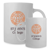 Full Color White Mug 15oz-Seal with College Name