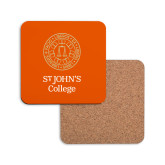 Hardboard Coaster w/Cork Backing-Seal with College Name