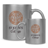 Full Color Silver Metallic Mug 11oz-Seal with College Name