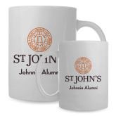 Alumni Full Color White Mug 15oz-Johnnie Alumni