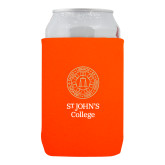 Neoprene Orange Can Holder-Seal with College Name
