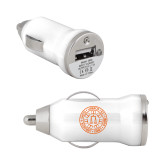 On the Go White Car Charger-Seal