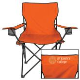 Deluxe Orange Captains Chair-Lock Up Horizontal