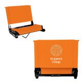 Stadium Chair Orange-Seal with College Name