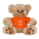 Plush Big Paw 8 1/2 inch Brown Bear w/Orange Shirt-Seal with College Name