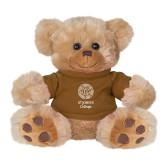 Plush Big Paw 8 1/2 inch Brown Bear w/Brown Shirt-Seal with College Name