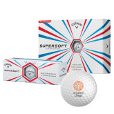 Callaway Supersoft Golf Balls 12/pkg-Seal with College Name
