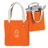 Allie Orange Canvas Tote-Seal with College Name