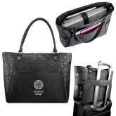 Sophia Checkpoint Friendly Black Compu Tote-Seal with College Name