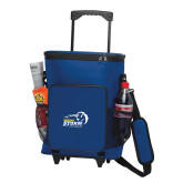 30 Can Blue Rolling Cooler Bag-New Primary Logo