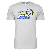 Next Level SoftStyle White T Shirt-New Primary Logo