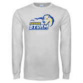 White Long Sleeve T Shirt-New Primary Logo