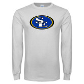 White Long Sleeve T Shirt-SE Primary Logo
