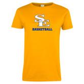 Ladies Gold T Shirt-SE Basketball