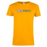 Ladies Gold T Shirt-Southeastern Flat