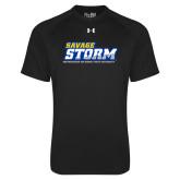 Under Armour Black Tech Tee-Savage Storm Word Mark