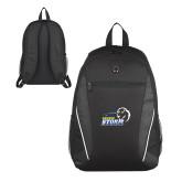 Atlas Black Computer Backpack-New Primary Logo