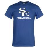 Royal T Shirt-SE Volleyball