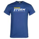 Royal T Shirt-Savage Storm Word Mark