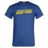 Royal T Shirt-Slanted Savage Storm Lines