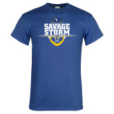 Royal T Shirt-Savage Storm Football Stacked
