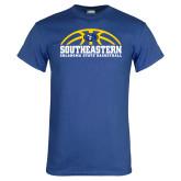 Royal T Shirt-Southeastern Basketball with Ball