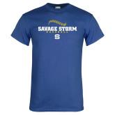 Royal T Shirt-Savage Storm Baseball Seams