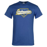 Royal T Shirt-Southeastern Softball Script