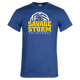 Royal T Shirt-Savage Storm Volleyball Stacked