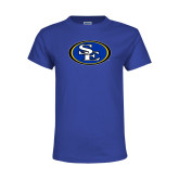 Youth Royal T Shirt-SE Primary Logo
