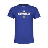 Youth Royal T Shirt-Savage Storm Baseball Icon