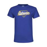 Youth Royal T Shirt-Southeastern Softball Script
