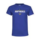 Youth Royal T Shirt-Savage Storm Softball Icon