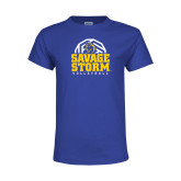 Youth Royal T Shirt-Savage Storm Volleyball Stacked