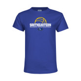 Youth Royal T Shirt-Southeastern Volleyball with Ball