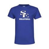 Youth Royal T Shirt-SE Volleyball