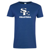 Ladies Royal T Shirt-SE Volleyball