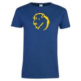 Ladies Royal T Shirt-Mascot Head