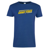 Ladies Royal T Shirt-Slanted Savage Storm Lines