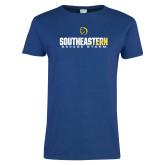 Ladies Royal T Shirt-Southeastern Savage Storm Flat
