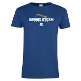 Ladies Royal T Shirt-Savage Storm Baseball Seams