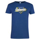 Ladies Royal T Shirt-Southeastern Softball Script