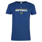 Ladies Royal T Shirt-Savage Storm Softball Icon