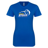 Next Level Ladies SoftStyle Junior Fitted Royal Tee-New Primary Logo