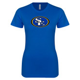 Next Level Ladies SoftStyle Junior Fitted Royal Tee-SE Primary Logo