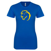 Next Level Ladies SoftStyle Junior Fitted Royal Tee-Mascot Head