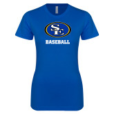 Next Level Ladies SoftStyle Junior Fitted Royal Tee-Baseball